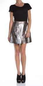 Metallic Polly Flirty Skirt