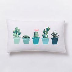 Summer Cacti Lumbar Pillow Cover #westelm