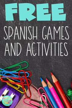 FREE Spanish Games and Activities!
