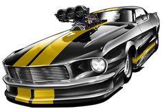 Blown '67 Mustang