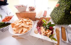 Reception food by 1587 Catering and Coordination. Julie Dreelins' Beach Productions http://www.outerbanksweddingassoc.org/membersearch/memberpage.html?MID=1872=Videographers=21 #1587catering #obxwedding