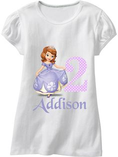 Sofia the First Iron On Digital File. $3.00, via Etsy.