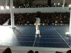 Anja Rubik au défilé Chanel http://vogueparis.tumblr.com/