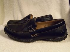 Born Loafers size 8 Medium Black Leather Low heel Comfortable  #Brn #LoafersMoccasins #Casual