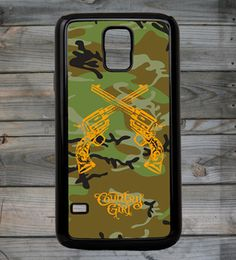 Country Girls™ Camo Crossed Guns Galaxy S5 Phone Case/Cover
