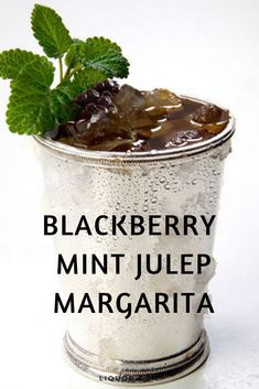 Celebrate Cinco de Mayo and the Kentucky Derby at the same time with this delicious spring cocktail. The Blackberry Mint Julep Margarita combines two classic drinks to make the perfect tequila cocktail. #tequillacocktails