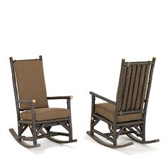 Rustic Rocking Chair #1189, Ebony finish on bark - by La Lune Collection