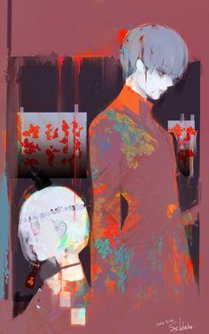 Tableau posté par #sotonami, l'auteur de #TokyoGhoul après être rentré à Fukoka depuis Tôkyô