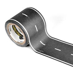 How cool is this road tape for Hot Wheels and Matchbox Cars? This removable tape is perfect for those Die-Cast Toy and Model Cars. This Car themed road tape is great for home and even on the go. It's a perfect use for hotel room floors because the tape is reusable and doesn't stick to the floor. Create shaped roads perfect for toddlers and children to stay entertained for hours.
