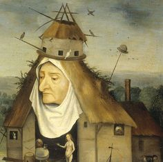The Temptation of Saint Anthony the Hermit (details) by Hieronymus Bosch, c. 1550-1600.