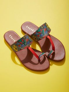 9d9dfe8705bd9e Buy Multicolor Handcrafted Silk Madhubani Kolhapuris online at Theloom  Sandals 2018