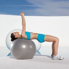 Bounce Off Belly Fat!: Here are two words you almost never hear together: fun and abs. But we're about to change all that. This exhilarating fitness-ball-based workout tones ab muscles by making them work hard to keep you balanced on the ball. And it not only sculpts your core but also targets the fat covering the muscles in that area. Best part? There's not a crunch in the bunch! | Health.com