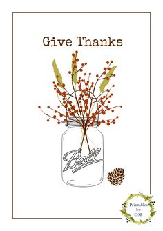 Give Thanks  - Free Printable