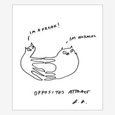 Fab.com | Opposites Attract Print