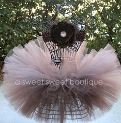 I love this color!!  Chocolate Truffle Tutu Dark Brown Tutu With by ASweetSweetBoutique, $30.00