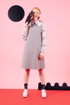 THE WHITEPEPPER Hand Detail Shift Dress Grey http://www.thewhitepepper.com/collections/autumn-drop-1/products/hand-detail-shift-dress-grey