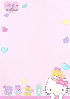 Hello Kitty Backgrounds, Hello Kitty Wallpaper, Hello Kitty My Melody, Sanrio Hello Kitty, Hello Kitty Images, Pochacco, Cute Stationary, Letter Set, Frames