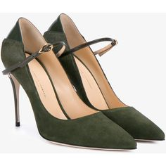 Jennifer Chamandi  'Lorenzo' Suede and Pony Skin Pumps (2.231.345 COP) ❤ liked on Polyvore featuring shoes, pumps, heels, heel pump, pony skin shoes, suede pumps, suede shoes and olive green pumps