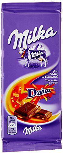 Milka Chocolat aux éclats de Caramel Daim Lot de 2 X 100 g