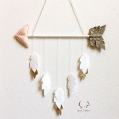 Baby Mobile • Baby Girl Mobile • Boho Nursery • Arrow and Feathers Mobile • Tribal Baby Mobile • Peach and Gold Nursery Decor • by PaigeAndPoppy on Etsy https://www.etsy.com/listing/248200293/baby-mobile-baby-girl-mobile-boho