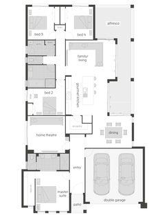Freeport house plan by McDonald Jones. Exclusive to Queensland. #floorplan, #housedesigns, #mcdonaldjones
