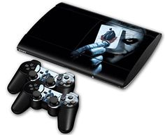 GAMB New Cards PS3 PlayStation 3 Super Slim 4000 2 Controllers Skin Sticker Decal ** You can find out more details at the link of the image.Note:It is affiliate link to Amazon.