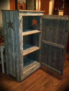 A pantry Sid made from old barn siding!