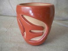 Santa Clara Pueblo Indian Pottery Carved Vase Mary Scarborough