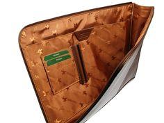 Visconti Leather Under-Arm Meeting Folio A4 Document Holder Folder Case - Brown
