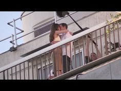 Dakota Johnson and Jamie Dornan Kiss on the 50 Shades of Grey set in Paris - YouTube