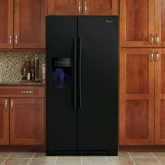 Whirlpool 26.4 cu. ft. Side by Side Refrigerator in Black-WSF26C2EXB at The Home Depot