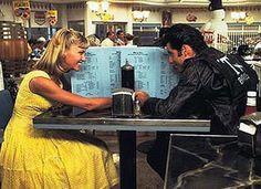 Olivia Newton-John and John Travolta in Randal Kleiser's Grease – 1978 Olivia Newton John, John Travolta, Grease 1978, Grease Movie, Grease Sandy, Grease Theme, Movies Showing, Movies And Tv Shows, Breakfast At Tiffanys