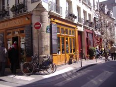 The Marais, my favorite part of Paris, in the 3rd arrondisment