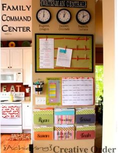 15 Incredible Command Centers (they'll get you organized!)11