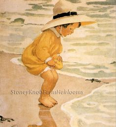 Playing in the Waves ~ Children, Beach ~ Cross Stitch Pattern…
