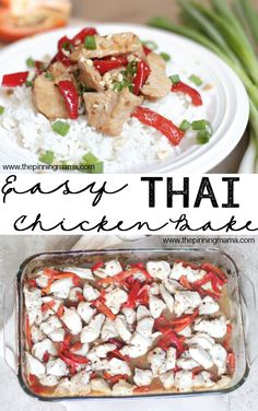 Only 5 ingredients and a few minutes to make this quick and easy Asian inspired dinner recipe! Easy Thai Chicken Bake #SuccessRice #ad #recipe #dinner #easy