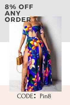 Bad Dresses, Flower Dresses, Striped Shirt Dress, Fashion Outfits, Womens Fashion, Fashion Ideas, The Dress, Ankle Length, Off The Shoulder