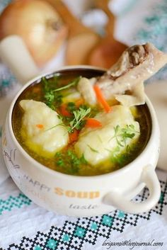 Soup with dumplings / Chief-Cooker Ukrainian Recipes, Russian Recipes, Russian Foods, Soup Recipes, Cooking Recipes, Most Delicious Recipe, Hot Soup, Chicken Wing Recipes, Soup And Sandwich
