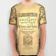 Shakespeare, Romeo and Juliet 1597 All Over Print Shirt