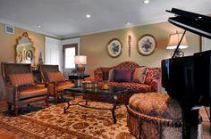 Transitional Living Room - traditional - living room - new york - PEYKAR ORIENTAL RUGS
