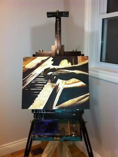 Piano painting of hands on keys canvas sizes by MaryZitaPayne