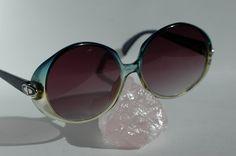 Christian Dior lunettes vintage ronde de la boutique Vintagestyleframes sur Etsy