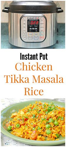 Instant Pot Chicken Tikka Masala Rice has tender and flavorful chicken simmered in a spicy Tikka Masala sauce and tossed with garlic fried rice. Total comfort!