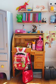 Inky's Desk by Colette Denali - look at al those details!
