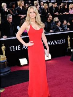 Be the girl on fire at your prom with this red dress worn by Jennifer Lawrence.  Order yours today!