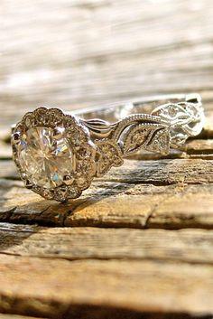 Vintage Engagement Rings With Stunning Details ★ See more: https://www.weddingforward.com/vintage-engagement-rings/4