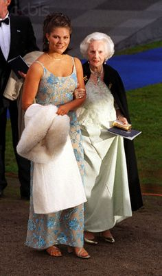 Crown Princess Victoria of Sweden and Princess Lilian of Sweden