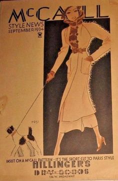 McCall 7951 on the cover of McCall Style News, September 1934