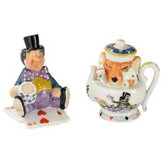 Paul first began teaching art part-time at Exeter University where he had time to develop his skills. Alice in Wonderland Set by Paul Cardew. Remember Don't Put Salt in Your Tea! Both bases have a Paul Cardew Alice in Wonderland back stamp. | eBay!