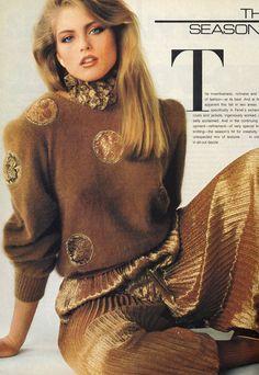 """The Season's Stars"", Vogue US, July 1980 Photographer : Francesco Scavullo Model : Kim Alexis Uploaded by 80s-90s-supermodels.tumblr.com"